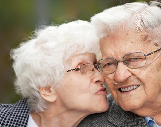 A healthy and happy elderly couple