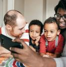 Family using consumer-driven technology