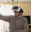 Using virtual reality at home